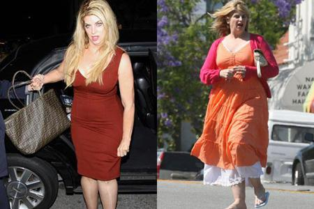 Kirstie Alley wearing size 6 after