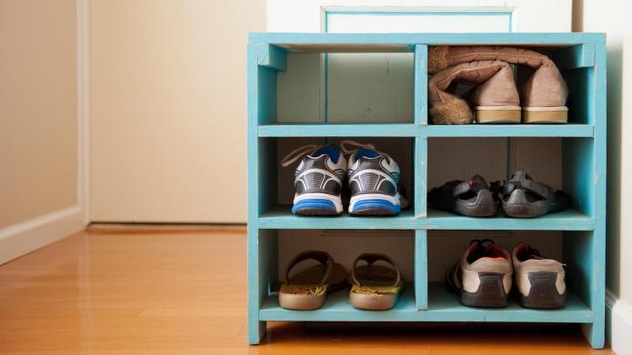 Shoe racks that double as decor
