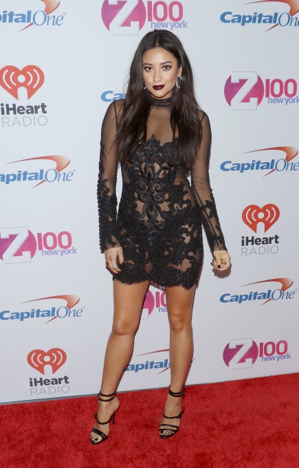 Shay Mitchell lace outfit