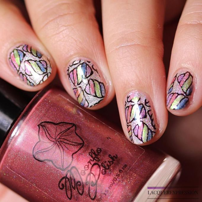 All-Over Glitter Nail Art