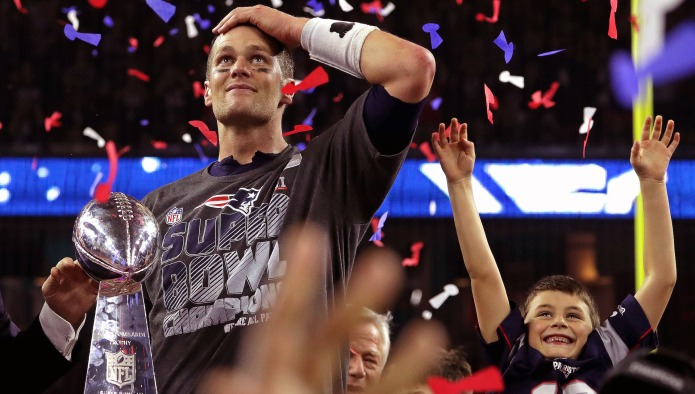 Tom Brady Catches Flak for Kissing