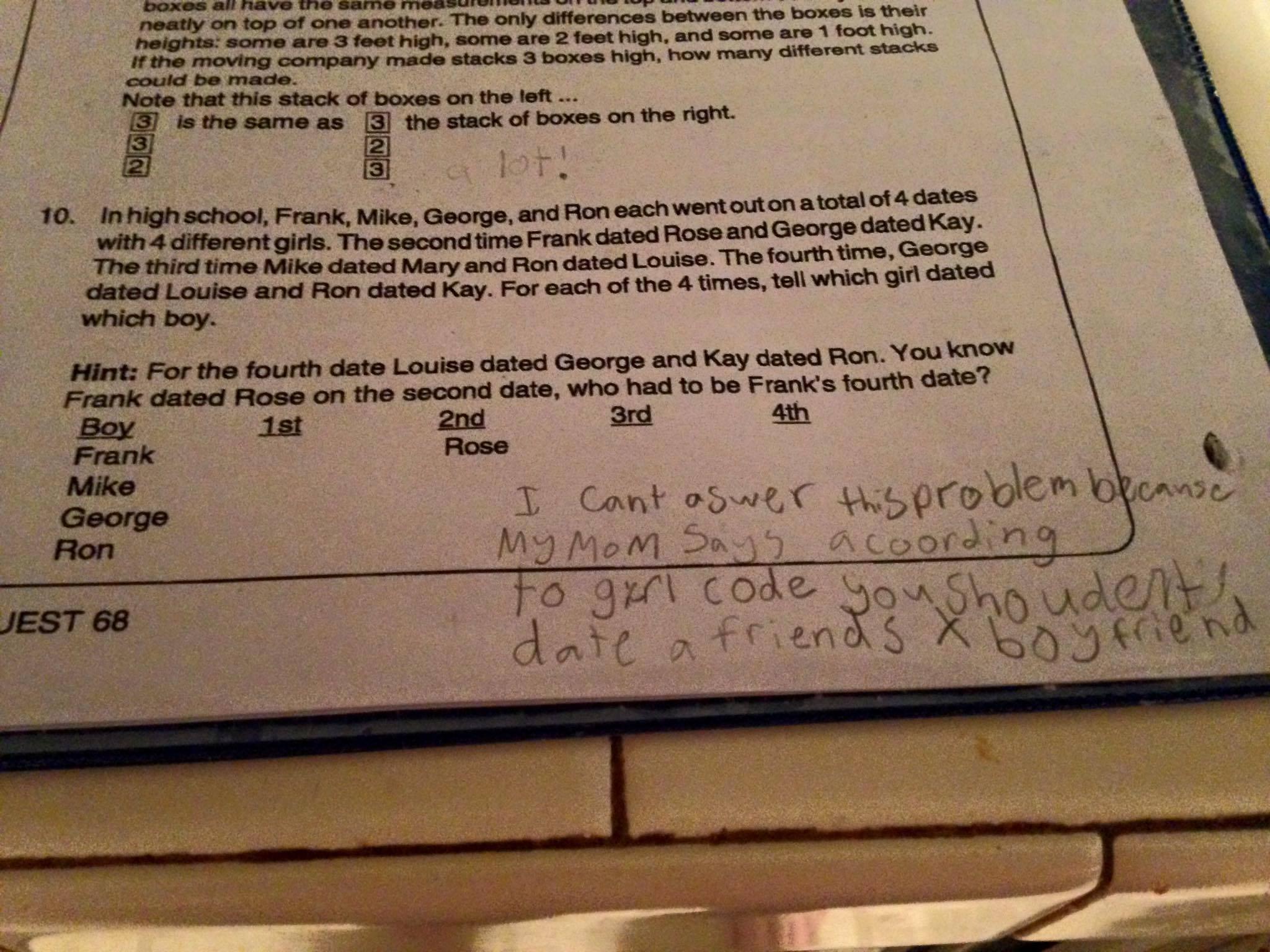 homework cheats math