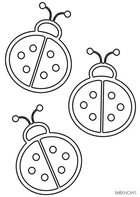 Craft template design ladybugs