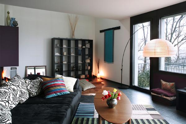 Dramatic living room decor