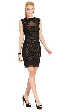 Body skimming lace dress for a summer wedding