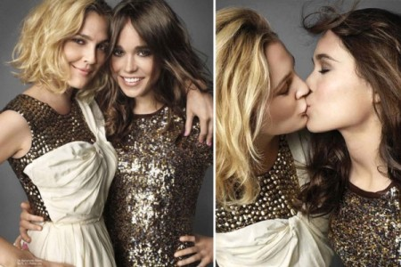 Drew Barrymore and Ellen Page shared a kiss in Marrie Claire in 2006