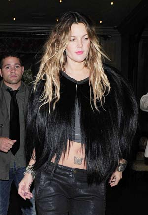 Drew Barrymore's boho chic hairstyle