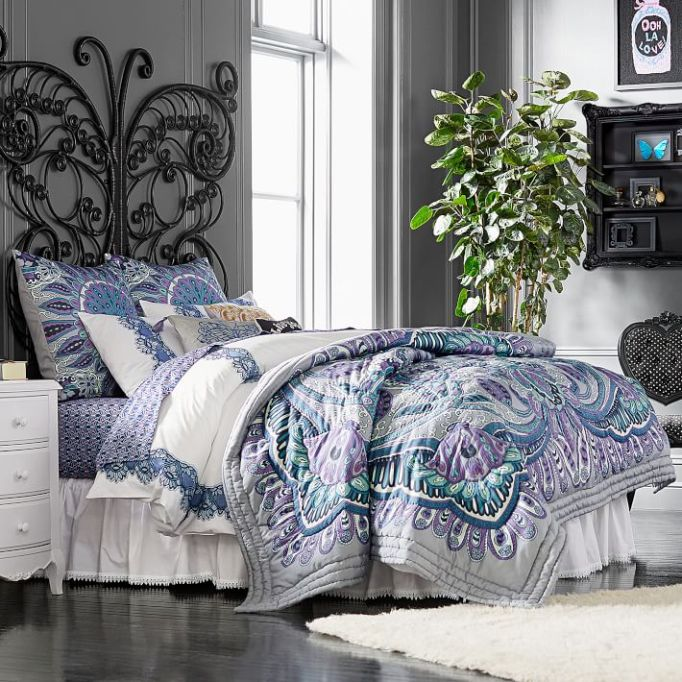 Anna Sui for PBteen: Liven up your room with this purple and teal quilt