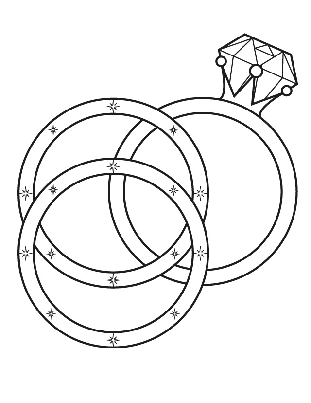 This is a picture of Printable Wedding Coloring Books for romance