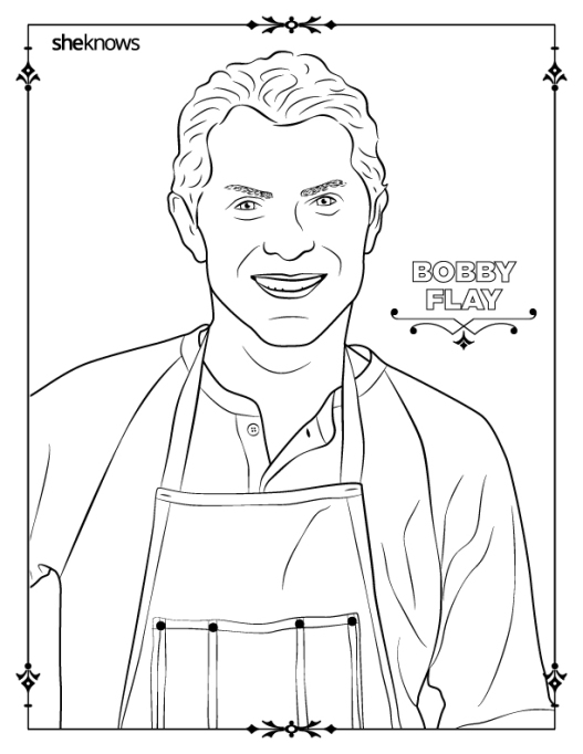 Bobby Flay coloring-book page