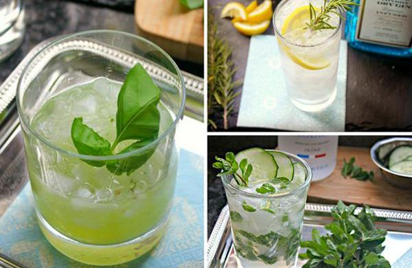 3 Herb-infused cocktail recipes
