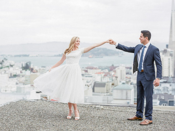 Bride finds the perfect engagement photo