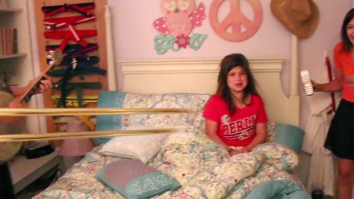 Mom blasts sleeping 10-year-old daughter out