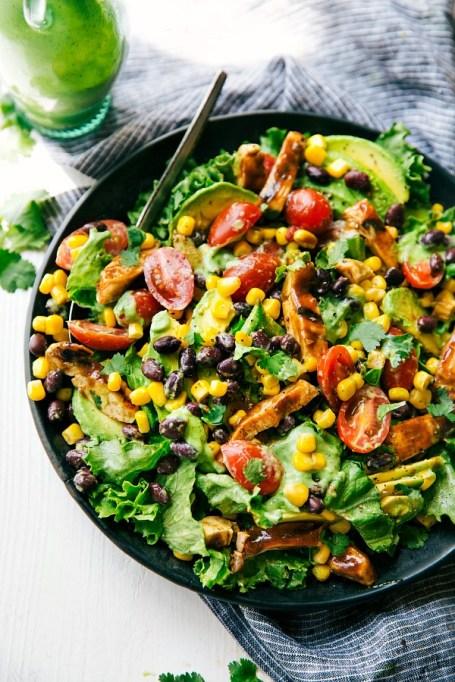 50 Easy Summer Salads: Barbecue Chicken Salad With Avocado Cilantro Dressing | Summer Eats