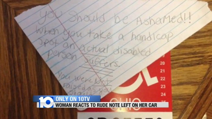 Mom defends student with 'invisible' disability