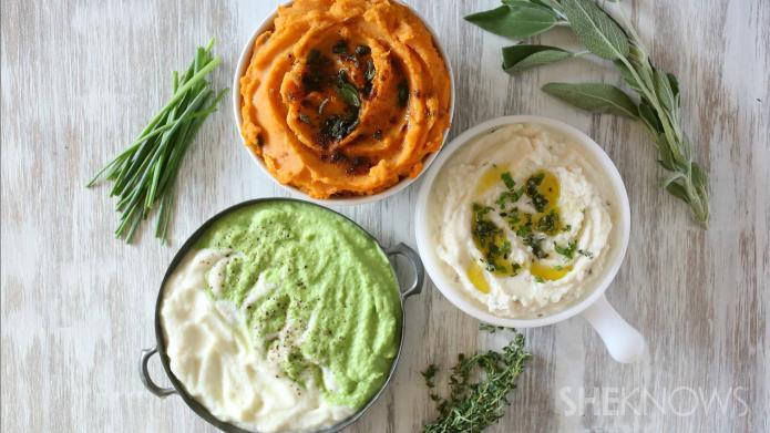 3 Easy non-potato mashed vegetable Thanksgiving