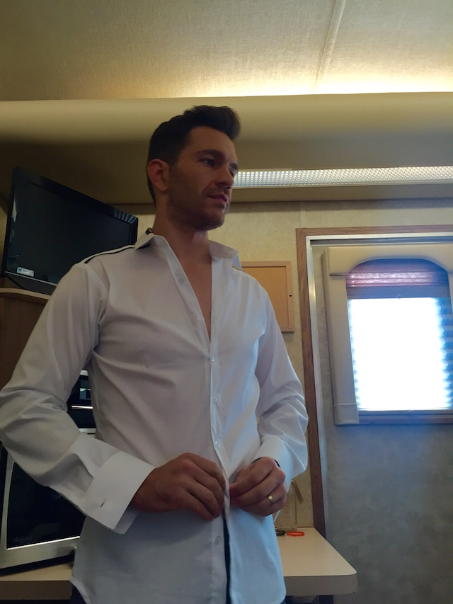 Andy Grammer getting dressed