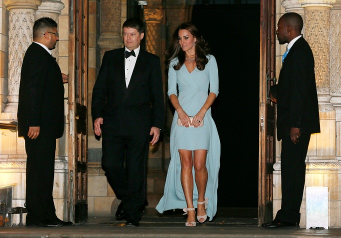 Kate Middleton baby blue evening gown