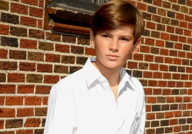 Dylan Brosnan as a child
