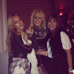 Dina Lohan parties with Lindsay Lohan