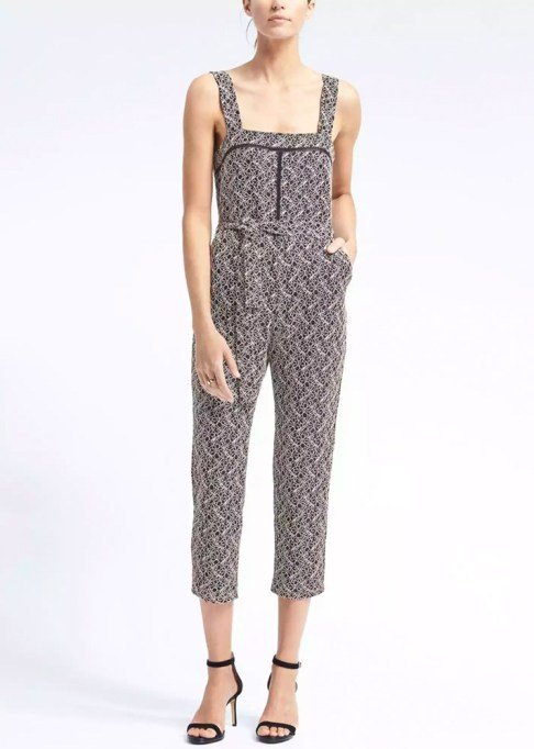 Best jumpsuits for the summer-to-fall transition: Banana Republic Jumpsuit with Ladder Lace | Fall Fashion 2017