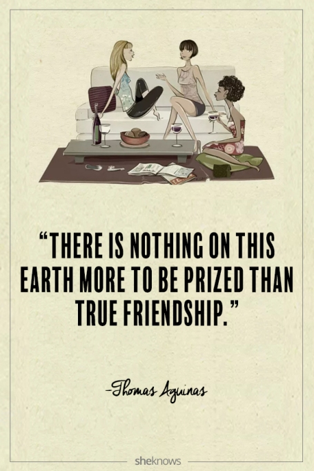 Thomas Aguinas quote about friendship
