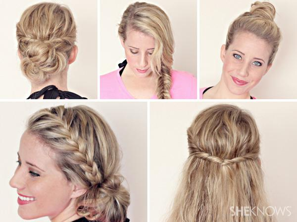 Hairstyle tutorials for wet hair