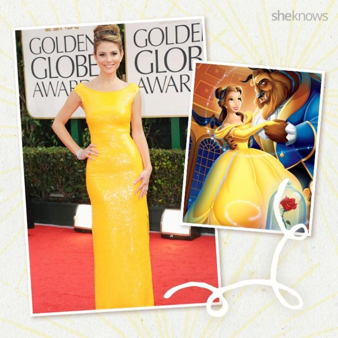 Maria Menounos as Disney princess Belle