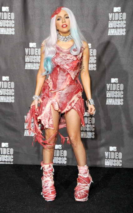 Lady Gaga's infamous meat dress