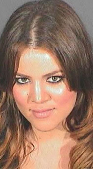 Khloé Kardashian mug shot