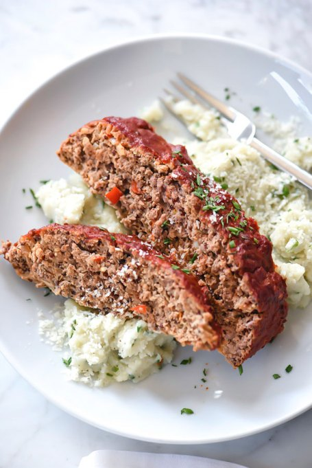 12 Healthier Alternatives To Your Favorite Winter Comfort Food: healthier meatloaf recipe