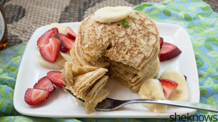 Make cottage cheese pancakes for a