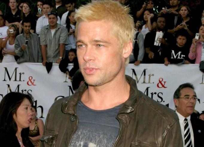 Brad Pitt with bleach blonde hair