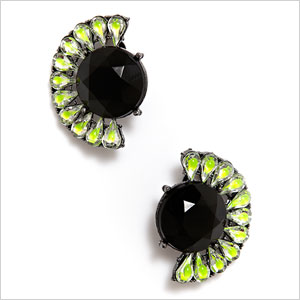 eQUIP neon green and black earrings