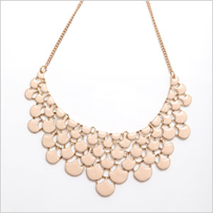 eQUIP blush graduated drop necklace