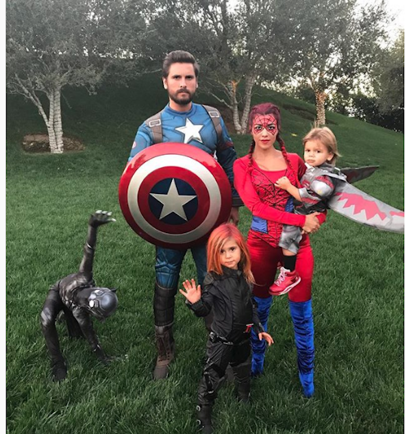 Scott Disick and Kourtney Kardashian as Avengers