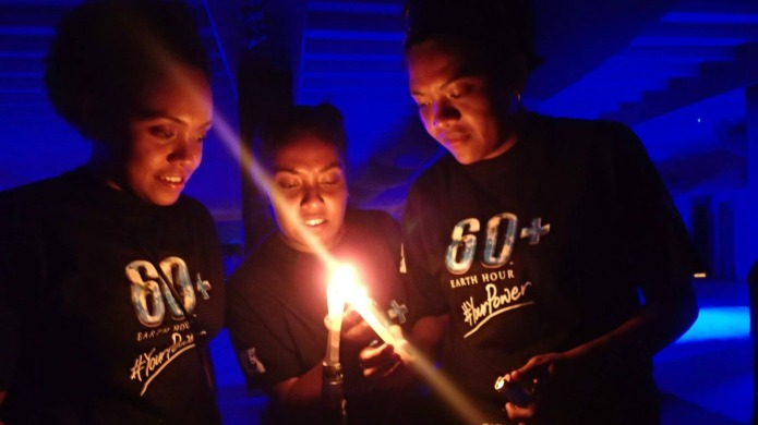 Earth Hour artwork promotes sustainable living