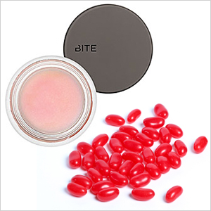 Bite Beauty Whipped Cherry lip scrub and jelly beans