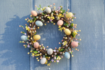 Easter wreath from Etsy
