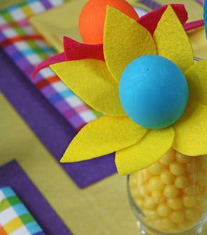 felt Easter centerpiece