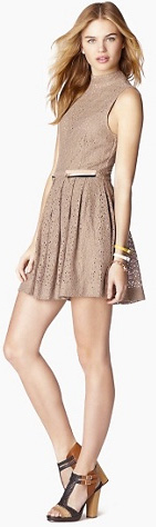 school girl-inspired lace dress