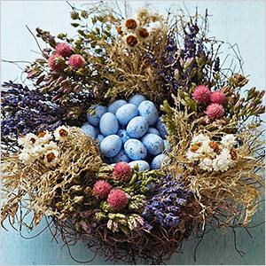 nest centerpiece for easter