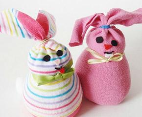 easter sock bunnies