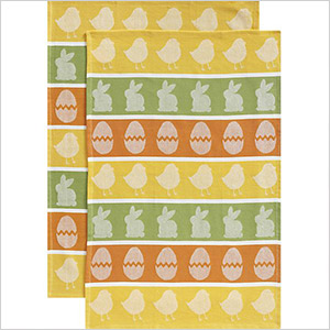 easter dish towels