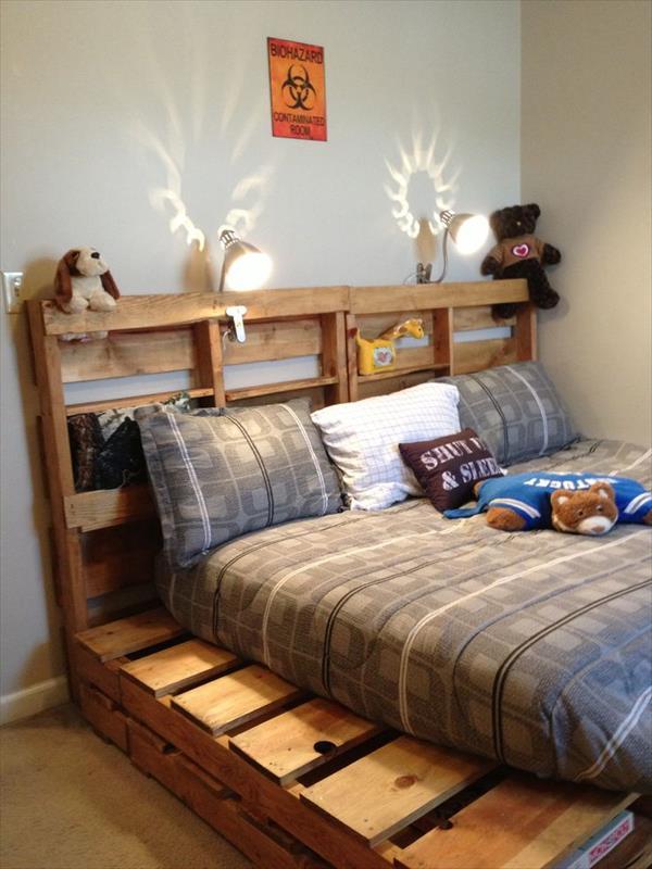 Wood pallet beds - kids