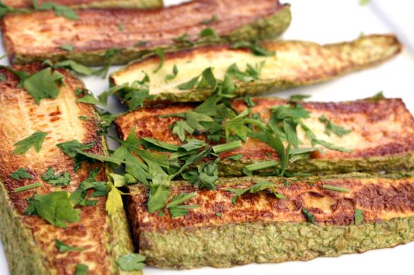 Easy peasy baked zucchini