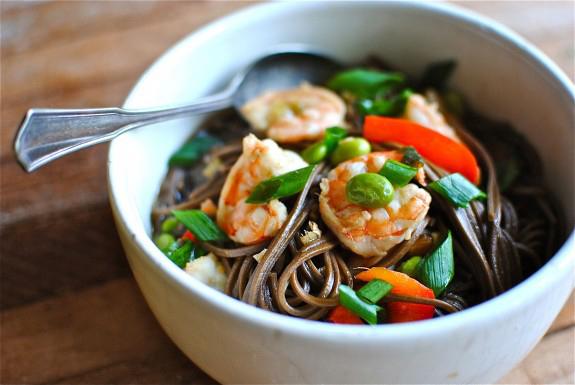 Easy soba noodle soup