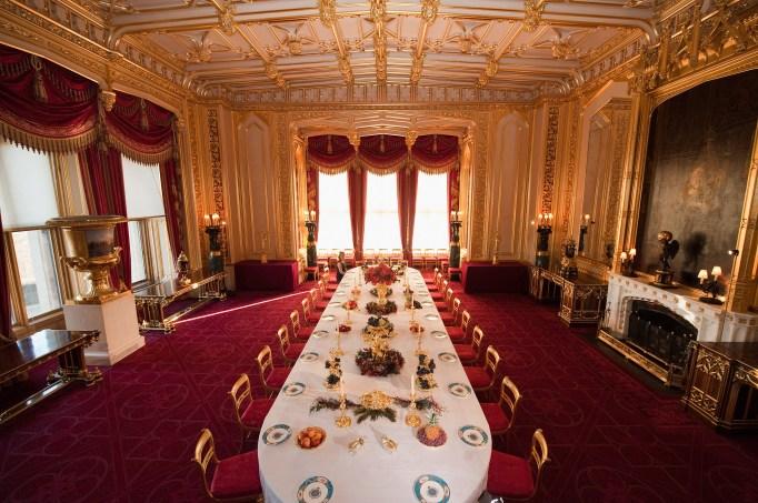 Inside the Royal Castles: Windsor Castle Dining Room