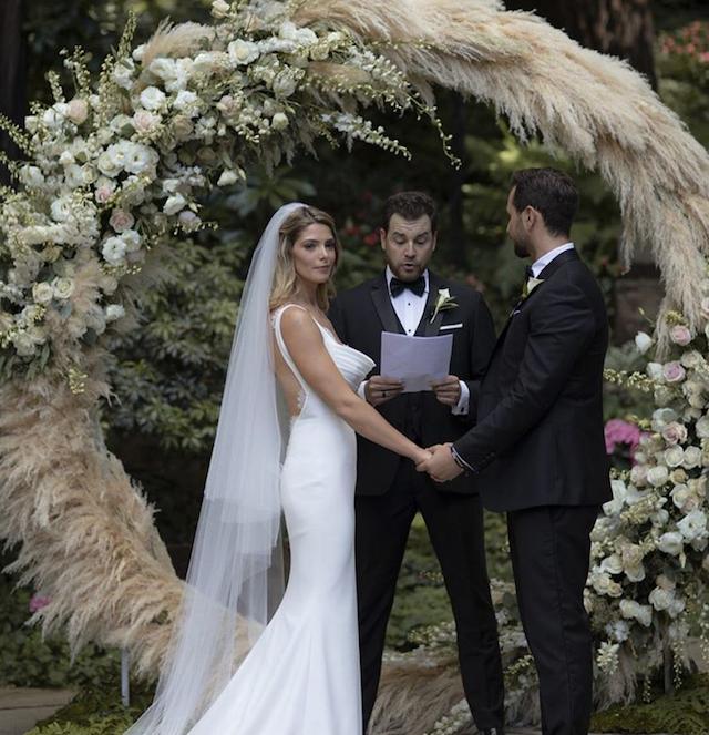 Ashley Greene and Paul Khoury on their wedding day