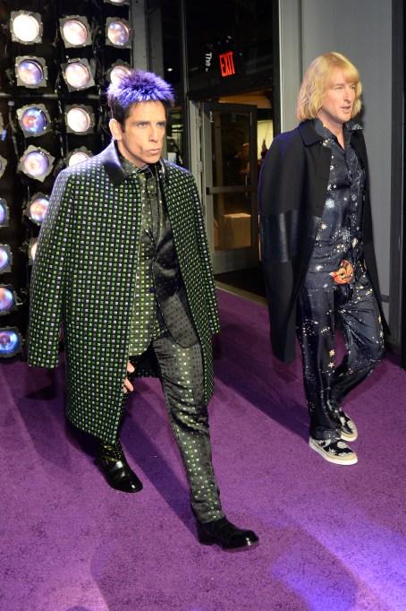 Ben Stiller and Owen Wilson at Zoolander premiere